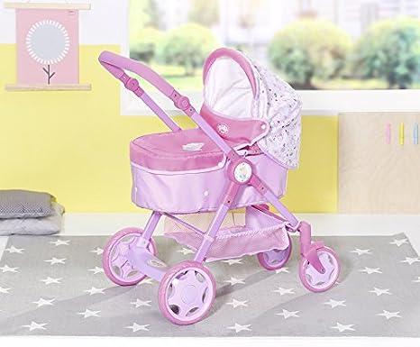 Zapf Creation 826386 Born Baby Evolve 6 en 1 Cochecito para muñecas, multicolor