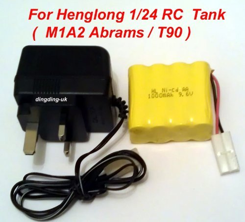 radio control M1A2 Abrams tank/T90 tank Heng long battery, used for sale  Delivered anywhere in USA