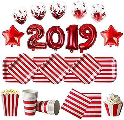 Christmas Party 2019 Clipart.Red Theme Christmas Party Supplies Home Decor Christmas