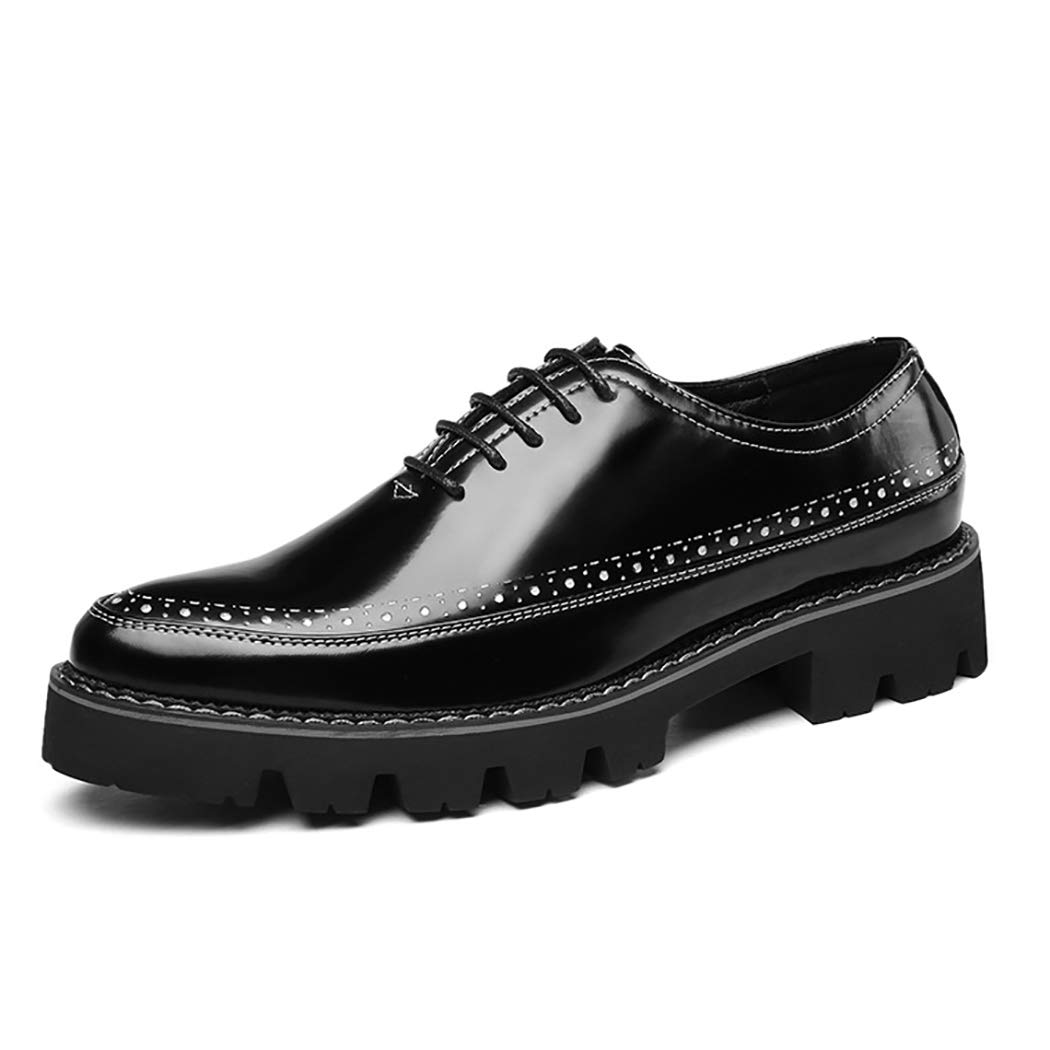 Mzq-yq Geschnitzte Herrenschuhe Kleid Spitz Leder Schuhe Brock England Retro Schuhe Zart, weich, atmungsaktiv, Rutschfest  | Fierce Kaufen