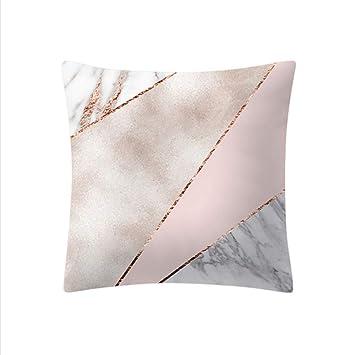 hysxm Funda De Almohada Rosa Dorado Rosa Cuadrado Decoración para El Hogar Funda De Cojín Decoración Nórdica Cojines para El Hogar Cojines para El Sofá: ...