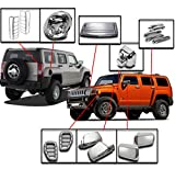 hummer h3 chrome hood vent - ZMAUTOPARTS Hummer H3 Chrome Cover Trim 24Pcs Combo Side Mirror Hood Deck Vent Antenna