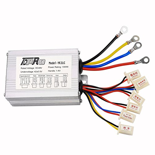 TDPRO 48V 1000W Brush Speed Motor Controller for Electric Scooter Bicycle e Bike (Watt Electric Scooter)