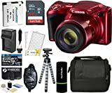 Canon PowerShot SX420 is Digital Camera (Red) with 20MP, 42x Optical Zoom, 720p HD Video & Built-in Wi-Fi + 64GB Card + Reader + Grip + Spare Battery and Charger + Tripod + Complete Accessory Bundle Review