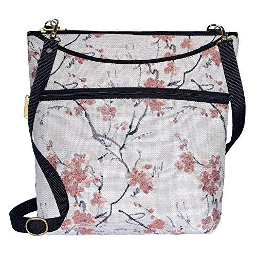 Danny K Women's Tapestry Bag Crossbody Handbag, Maggie Purse Handmade in the USA (Cherry Blossom) ()