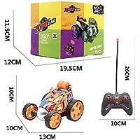 Remote Control Stunt RC Car Dancing Tumbling Electric Controlled Graffiti Drift Cars Rotating Wheel Vehicle Toys (Orange…