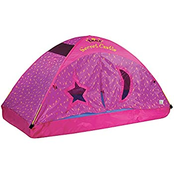 Pacific Play Tents Kids Secret Castle Bed Tent Playhouse - Twin Size