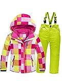 Mallimoda Boy's Girl's Winter Colorblock Ski Jacket 2-Piece Snowsuit Pink 3 Size 7