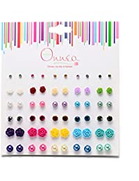 Multi Pairs Disc Ball Earrings Set for Girls, Hypoallergenic