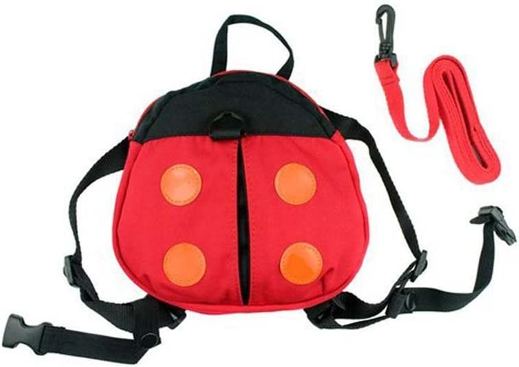 Smallwise Trading Toddler Safety Backpack with Harnesses Strap Great for Baby Walker Reins Lovely Ladybird Design - -