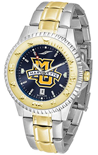 - Marquette Golden Eagles Competitor Two-Tone AnoChrome Men's Watch