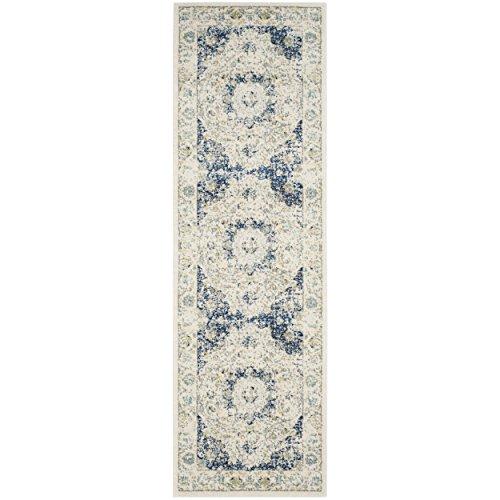 Safavieh Evoke Collection EVK220C Vintage Oriental Ivory and Blue Runner (2'2