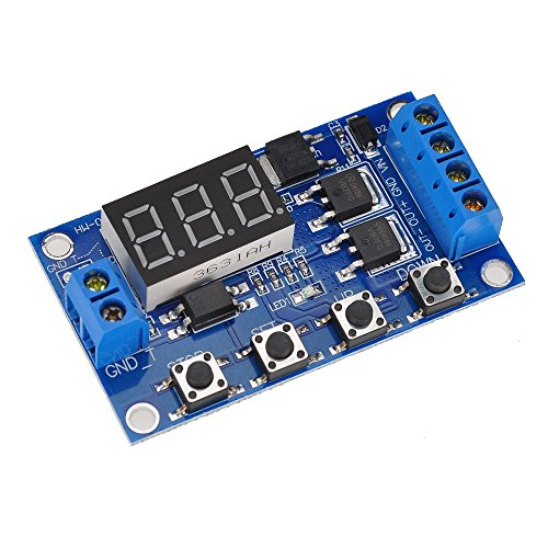 (Lysignal 400w Trigger Cycle Timer Dual MOS Tube Control Board Time Delay Switch Circuit Replace Relay Module for Motor, Light Bulbs, LED Lights, DC Motors, Micro Pumps, Solenoid Valves)