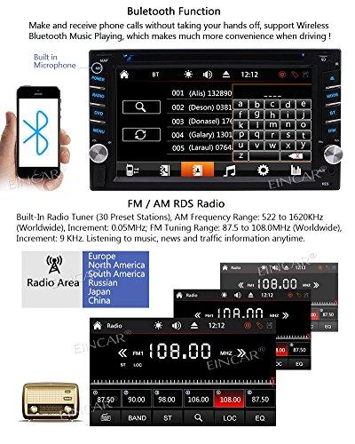 EinCar Double DIN Car Navigation Car Touch Screen Car DVD Player In-dash Audio AM/FM Radio SD AUX With Wireless Camera