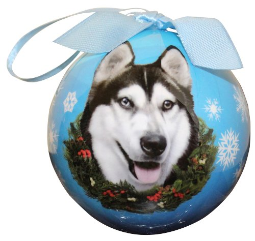 (Siberian Husky Christmas Ornament Shatter Proof Ball Easy To Personalize A Perfect Gift For Siberian Husky Lovers)