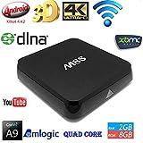 Cewaal (US Plug)Smart TV Box, Android 4K TV Box M8S S812 2GB+ 8GB Amlogic Quad Core Bluetooth Player