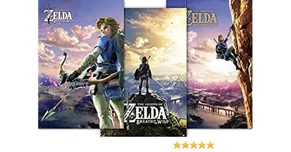 The Legend of Zelda g874215 Póster Breath of the Wild Juego de 3, multicolor , color/modelo surtido: Amazon.es: Juguetes y juegos