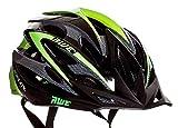 AWE AeroLite FREE 5 YEAR CRASH REPLACEMENT Men's Bicycle Helmet - Black/Green, Size 56-58