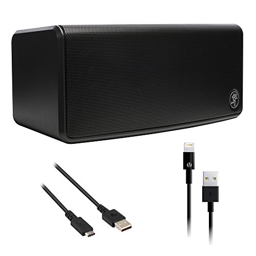 - Mackie FreePlay GO Portable Bluetooth Speaker with Type-C to USB Type-A Charge & Sync Cable (6') and 3' Lightning Connector to USB Cable