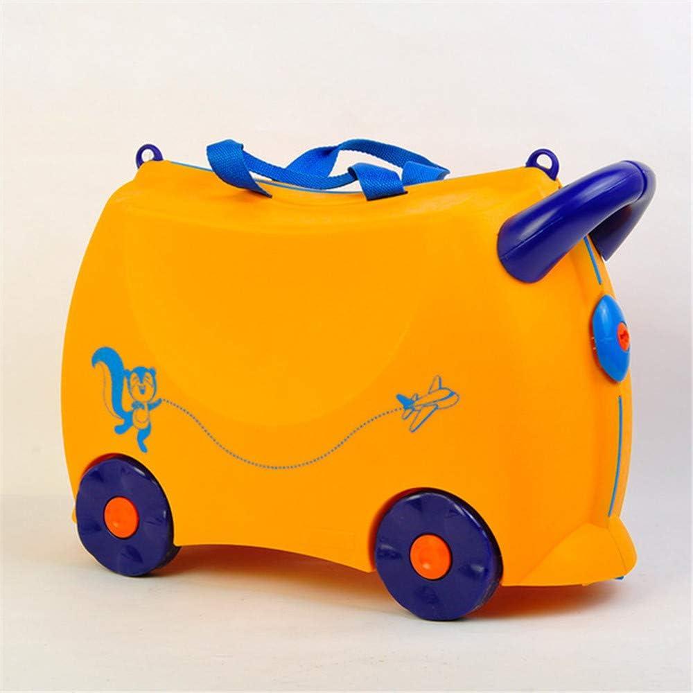 Maleta de los niños, paseo en el cochecito de equipaje, del equipaje del balanceo bolsa de lona, caja de la carretilla niños pueden sentarse y caja de almacenamiento caso maleta trolley equipaje