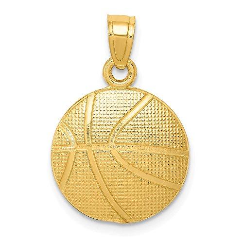 - Real 14kt Yellow Gold Basketball Pendant