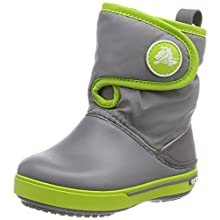 Crocs Crocband II.5 Gust Boot, Botas de Nieve Unisex Niños, Gris (Charcoal/Volt Green), 32/33 EU