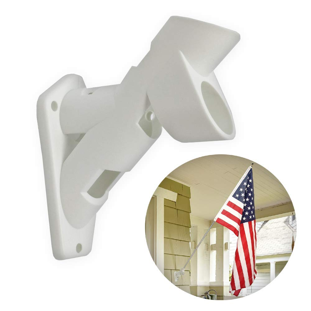 Premier Designs All-Weather Dual Position Heavy-Duty Plastic Flag Pole Holder PD23941 Mounting Bracket - Industrial Commercial-Grade Premium Durable Quality