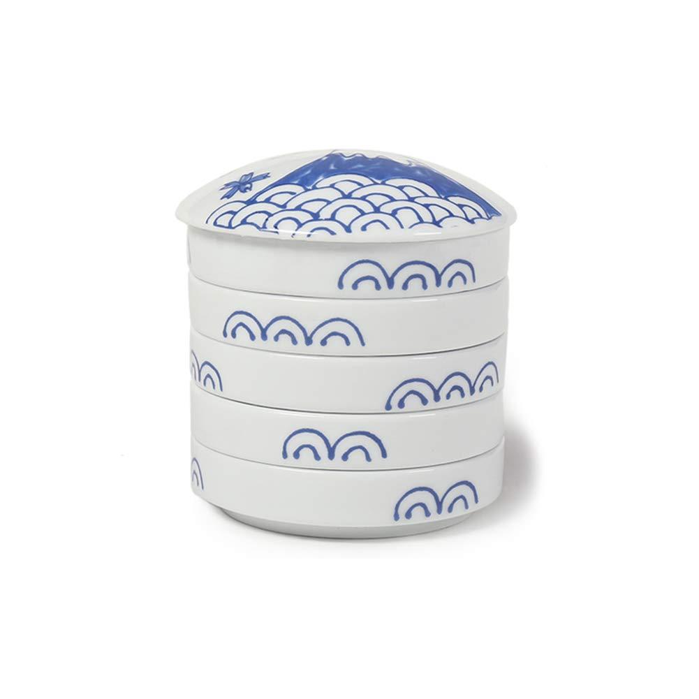 Liitrton 5 Layers Mixing Trays Set Porcelain Stackable Paint Palette for Watercolor Gouache Acrylic