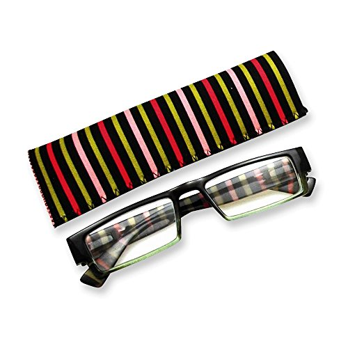 Multi Colored Stripes 1.25 Magnification Reading Glasses