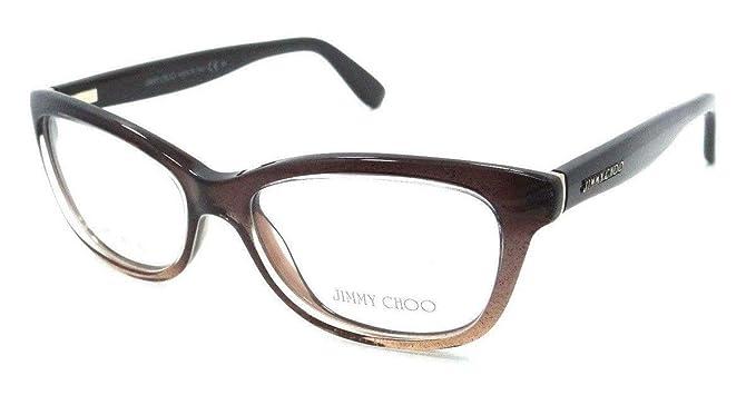 02092f9c9257 Amazon.com  JIMMY CHOO 87 Eyeglasses 02PI Brown Glitter Demo Lens 51 ...
