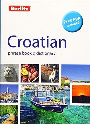 Croatian Phrase Book And Dictionary - 2ª edición Berlitz ...