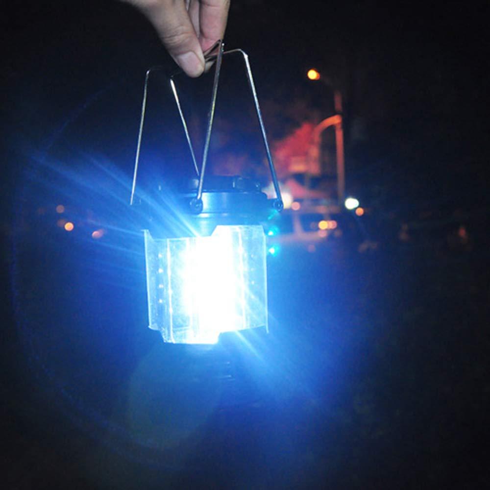 Lilideni Ligero 12 LED Bivouac Camping Senderismo Tienda de campa/ña Linterna L/ámpara de Pesca port/átil Tienda Colgante Linterna con Mangos de Acero Inoxidable Emergencias Linterna