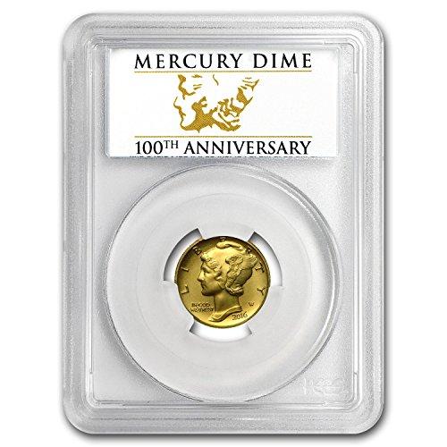 2016 W 1/10 oz Gold Mercury Dime SP-70 PCGS (FS) Dime SP-70 PCGS