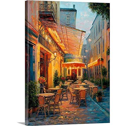 Haixia Liu Premium Thick-Wrap Canvas Wall Art Print Entitled Cafe Van Gogh 2008, Arles France 30