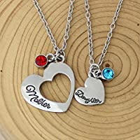 Personalized Initial Necklace Birthstone Necklace Mother,Daughter Necklace