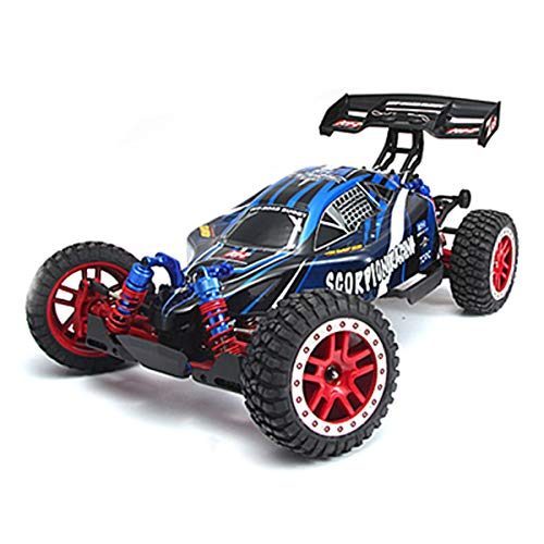 Buggy Road Off 1/8 - BAOHT 1/8 4WD RC Car, Brushless Electric Buggy with 2.4Ghz Radio 4WD RTR Off-Road RC Racing Car Hobby Car (Blue)