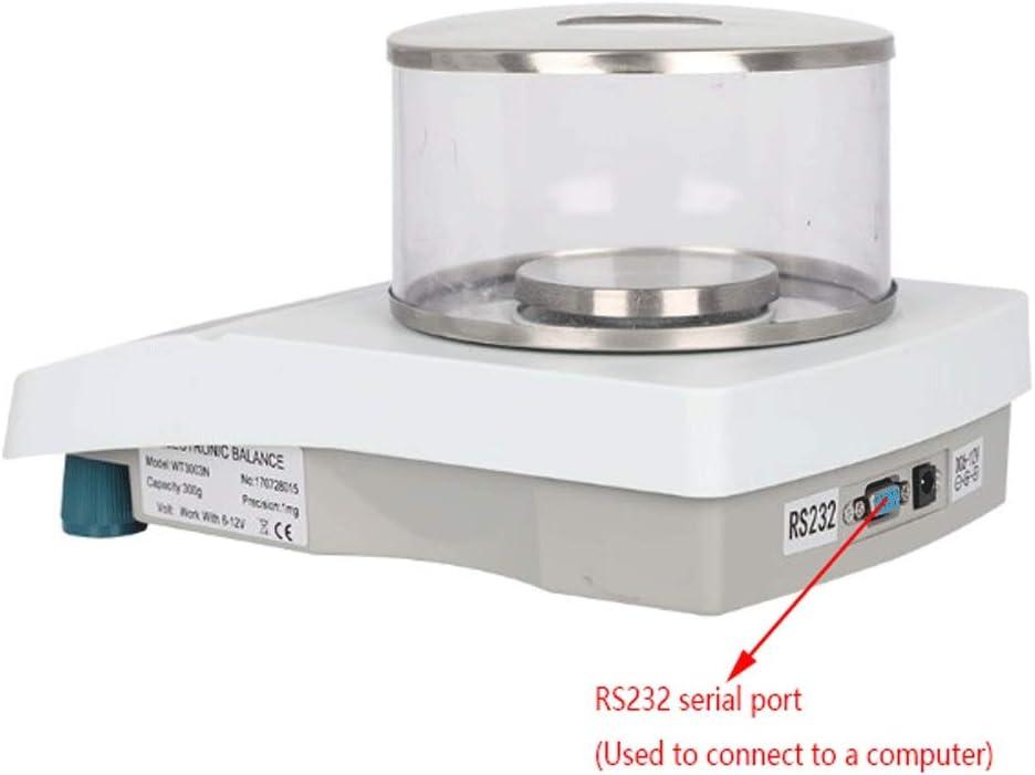 LYC Balanza de Joyería para Laboratorio, 0.001g Electrónico Equilibrio Cocina Báscula Apto para Laboratorios, Panadería, Joyerías d (Size : 300gx0.001g): Amazon.es