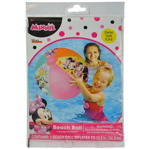 Disney Plastic Ball (Disney Minnie Mouse Roadster Inflatable Beach Ball)
