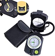 Sportneer Multifunctional Survival Sighting Compass with Inclinometer, Distance Calculator, Military Lensatic