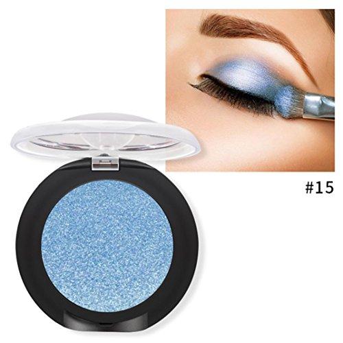 Oksale 20 Colors Eyeshadow Powder Diamond Makeup Pearl Metallic Eyeshadow Palette (E2)