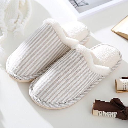 LaxBa Femmes Hommes Chaussures Slipper antiglisse intérieur M Blanc 35/36