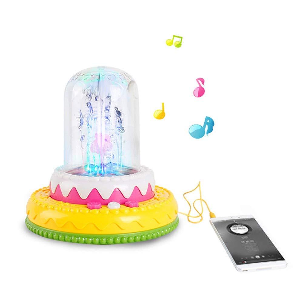 LIUguoo LED Fountain,Electric Musical Fountain,LED Light Flashing Fountain Kids Children Toy