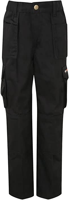 Junior Work Trouser Tuff Multi Pocket Extreme Pro Pants Triple Stitched Kids Boy