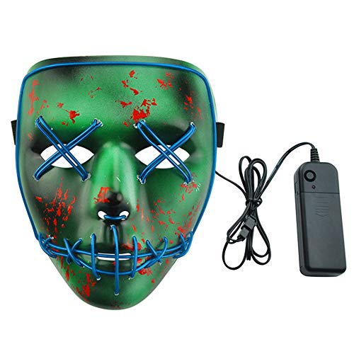 Jfk Halloween Costumes - Prizemall Halloween Cosplay Scary Mask Led
