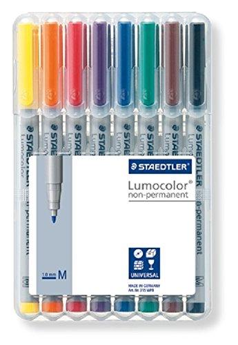 Staedtler 315 WP8 Feinschreiber Universalstift Lumocolor non-permanent, Staedtler Box mit 8 Stück