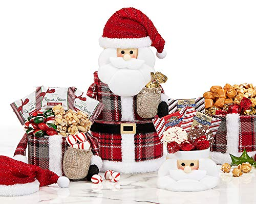 Santa Claus Gift Tower For Everyone Naughty Or Nice Loaded With Ghirardelli, Candy Cane and More !