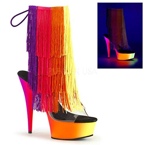 Pleaser Kvinnor Regnbåge 1017tf-6 Syntetiska Boots Klar Multi, Neon Multi