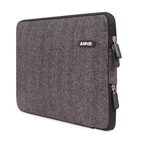 [Best Protable Laptop Sleeve Ever] Herringbone Woollen Water-resistant 15-15.6 Inch Laptop Sleeve Case Bag