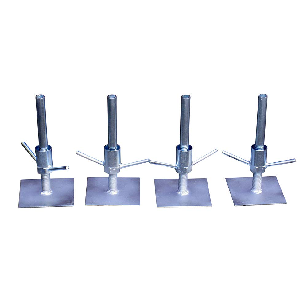 Classic Scaffold Tower Adjustable Base Plates (set of 4) Toptower