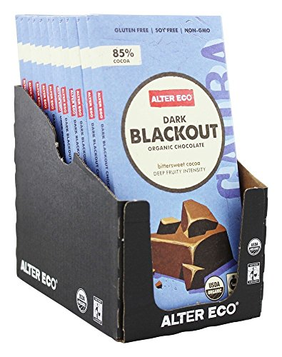 Blacks Organic Chocolate Dark (Alter Eco - Organic Chocolate Dark Blackout 85% Cocoa - 2.82 oz (pack of 2))
